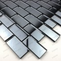 Mosaic glass tile mirror Brillo Gris