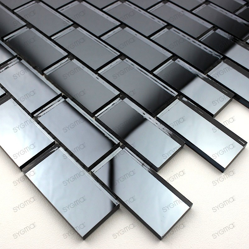 mosaique verre carrelage effet miroir Brillo Gris