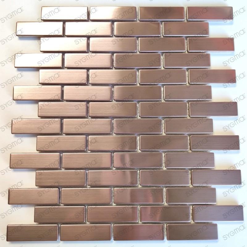 Mosaico en acero inoxydable modelo Logan Cuivre