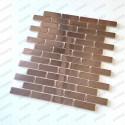 Mosaic tile backspalsh kitchen stainless steel Logan Cuivre