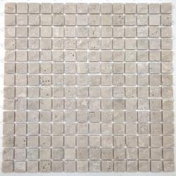 Carreaux mosaique en marbre travertin pour salle de bains et douche Ektor