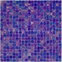 mosaico azul iridiscente de vidrio Imperial Petrole