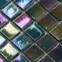 carrelage mosaique vert irisé pour sol et mur salle de bains Imperial Emeraude