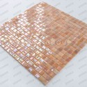 iridescent glass mosaic for shower and bathroom Imperial Rose