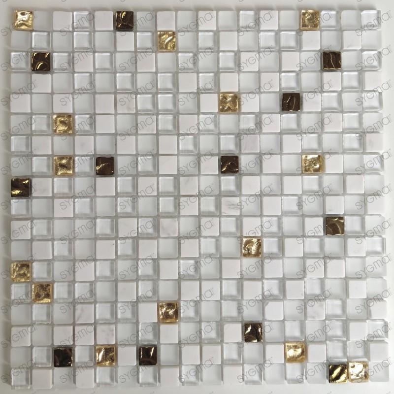 Mosaique murale et sol de douche et salle de bains Glow