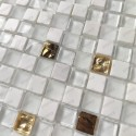 Tile mosaic bathroom stone and glass model GLOW