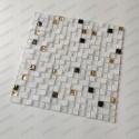 Azulejo de piedra del cuarto de baño de mosaico y cristal Glow