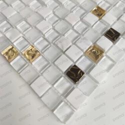 Tile mosaic bathroom stone and glass Glow 1sqm