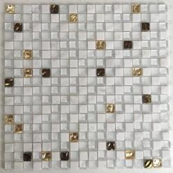 mosaique mur salle de bain sol douche 1m Glow