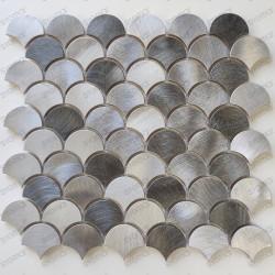 Placa de mosaico azulejos de aluminio azulejos de escamas de pescado Xenia