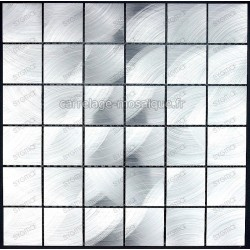 carrelage mosaique aluminium 1 plaque ALU 48