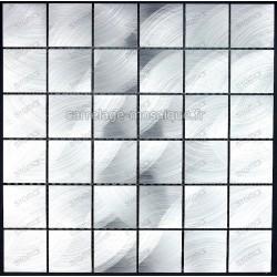 splashback kitchen aluminum tile mosaic aluminium cm-alu-48