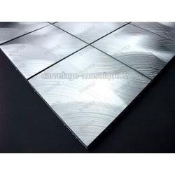 carrelage mosaique aluminium 1 plaque ALU 98