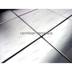carrelage inox mosaique inox 1 plaque REGULAR 98