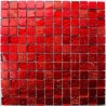 Tile mosaic glass and stone 1 sheet Alliage Rouge