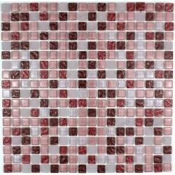 Tile mosaic glass steam room sauna OPUS Red