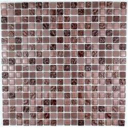 mosaico cristal ducha baño frente cocina opus marron