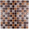 Mosaique carrelage verre 1 plaque MADURO