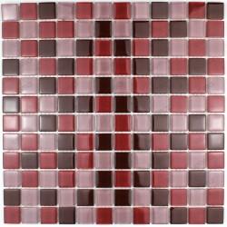 suelo mosaico cristal ducha baño frente cocina grenat