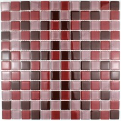 Tile glass mosaic shower plate mosaic Garnet