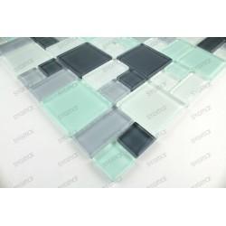 Mosaique carrelage verre 1 plaque DOMINO PINCHARD