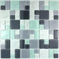 Mosaic tiles glass plate mosaic shower DOMINO PINCHARD