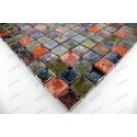 Mosaique carrelage verre 1 plaque ZENITH REGLISSE