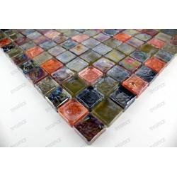 Mosaique carrelage verre sol et mur Arezo Reglisse
