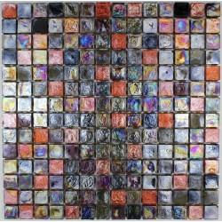 Mosaic tiles glass plate mosaiqe shower Arezo Reglisse