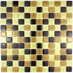 Mosaic tiles glass plate mosaic shower MOCHA