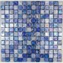 Mosaic tiles glass plate mosaic shower Arezo Bleu