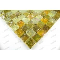 mosaique carrelage verre sol et mur Arezo Jaune