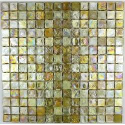 Mosaic tiles glass plate mosaic shower Arezo Jaune