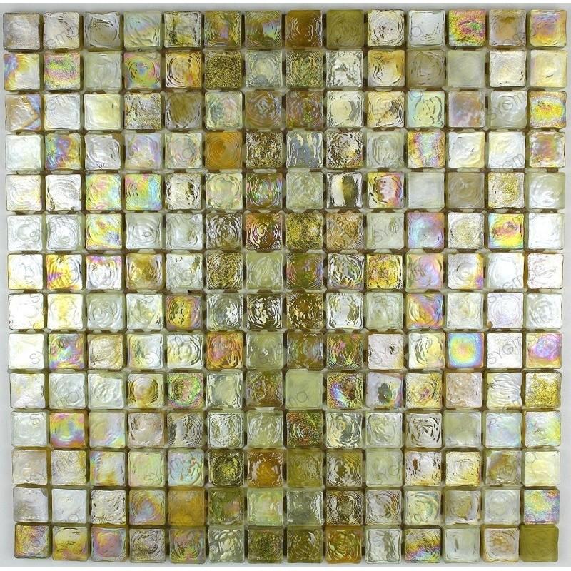 Mosaique carrelage verre 1 plaque ZENITH DORE