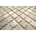 Carrelage pierre mosaique marbre 1 plaque SALVADORE 25