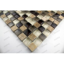 Tile mosaic glass and stone 1 sheet MAGGIORE