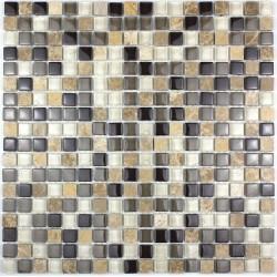 Carrelage mosaique verre et pierre 1 plaque MAGGIORE