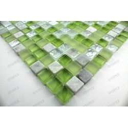 Tile mosaic glass and stone 1 plate SAMBA