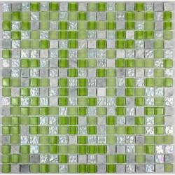 Tile mosaic glass and stone 1 plate SAMBA