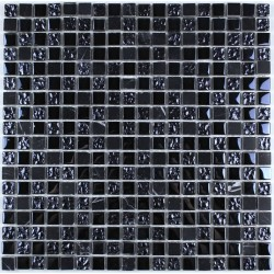 Carrelage mosaique verre et pierre hammam 1 plaque URBAN