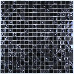 Carrelage mosaique verre et pierre hammam 1 plaque Nanda