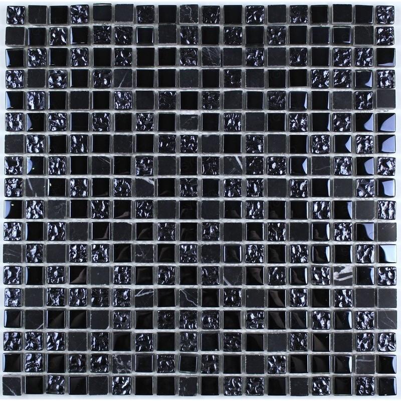 Malla mosaico bano y ducha vidrio y piedra modelo Nanda