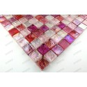 Glass mosaic wall and floor shower bathroom or kitchen Arezo Rose