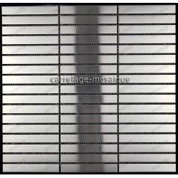 Mosaique en inox pour mur Lignus 100