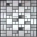 carrelage inox mosaique frise 1 plaque LOFT