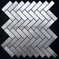 tiling kitchen stainless steel splashback stainless steel mosaic mc-batonrompu