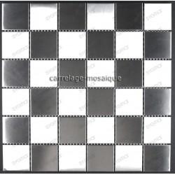Damier 48 - mosaique inox