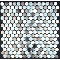tiling kitchen stainless steel splashback stainless steel mosaic cm-multiround