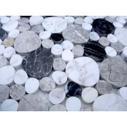 Galet de marbre carrelage sol douche et salle de bain Futuna