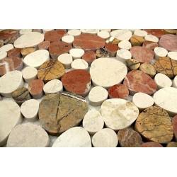 galets marbre douche salledebain carrelage LUNA BEIGE